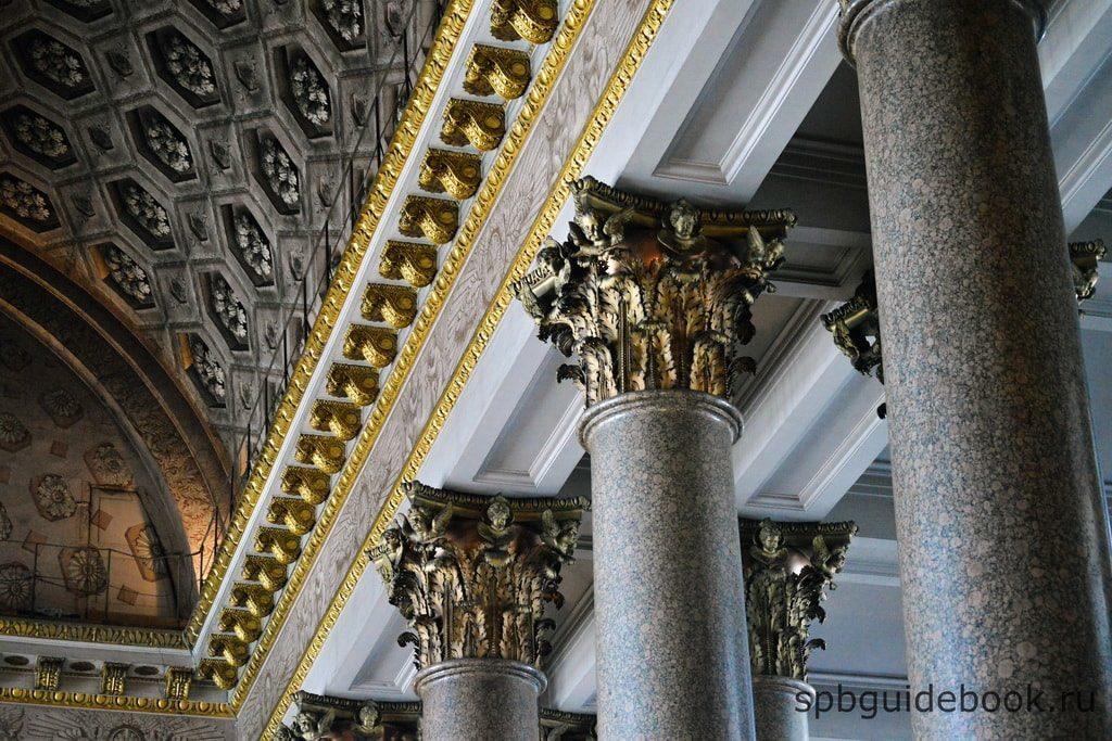 Казанский собор: архитектурные элементы внутреннего убранства.