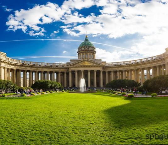 Казанский собор. Фасад со стороны Невского проспекта.
