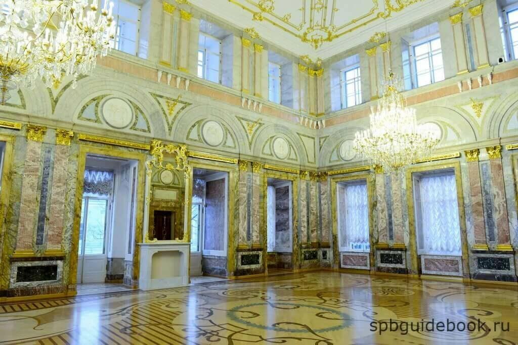 Фото Мраморного зала в Мраморном дворце. Санкт-Петербург.