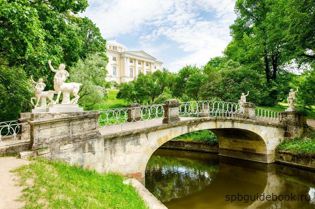 Мост Кентавров и Павловский дворец.
