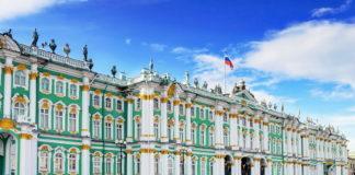 """""""Эрмитаж"""". Фасад со стороны Дворцовой площади."""