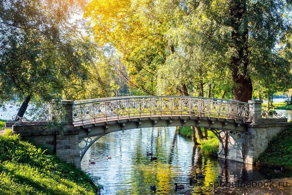Железный мост. Гатчинский парк.