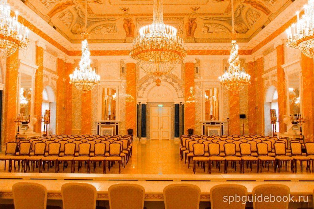 Мраморный зал. Константиновский дворец.