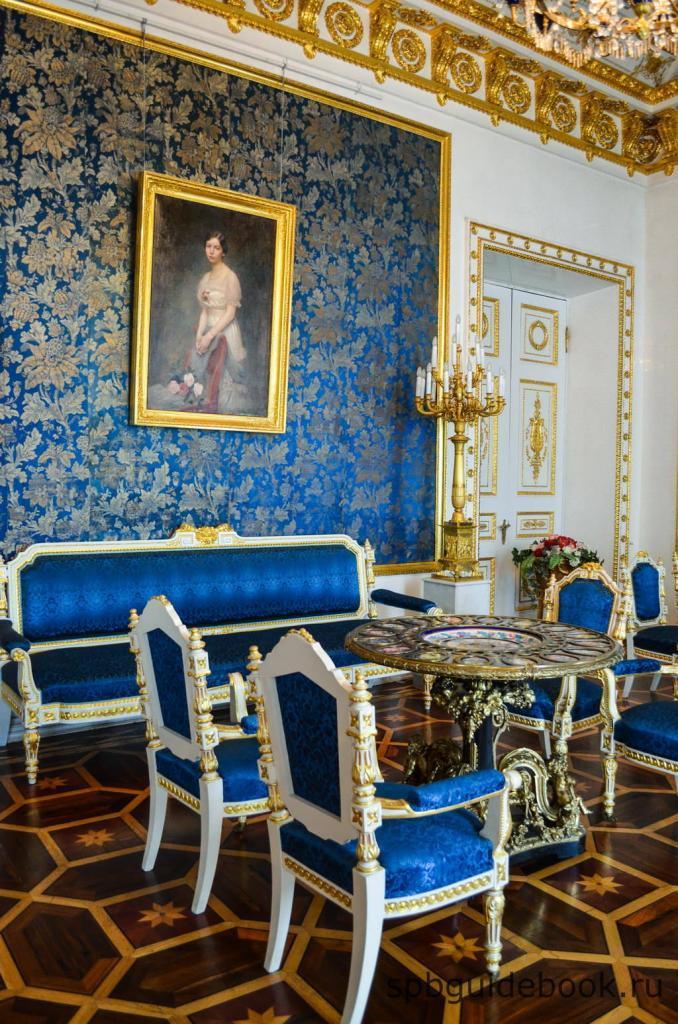 Синяя гостиная. Юсуповский дворец на Мойке.