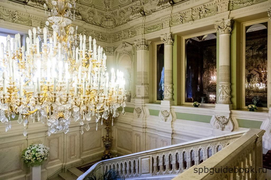 Парадная лестница. Юсуповский дворец на Мойке.