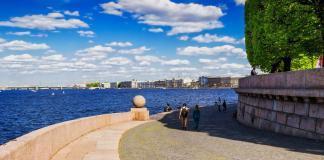 Стрелка Васильевского острова в Санкт-Петербурге.