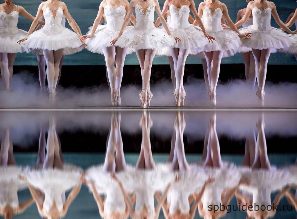 """Фото сцены из балета """"Лебединое озеро""""."""