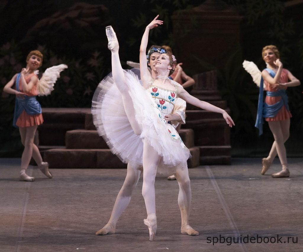 Фото балета на сцене театра.